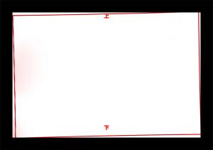 赤枠がファインダー像